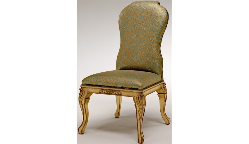 Dining Chairs Armless Dining Chair with gold lettering