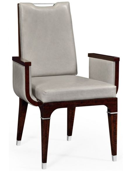 Dining Chairs Quality Leather Upholstered Armchair