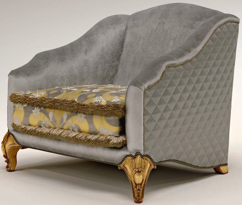 Cushioned Upholstered Armchair