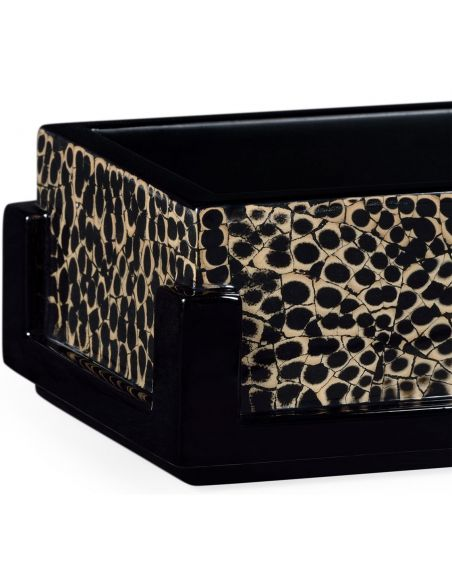 Decorative Accessories Rectangular Pen Box with Black Frame