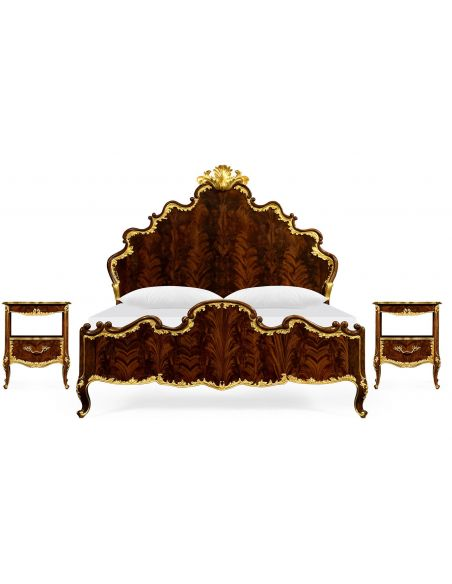 BEDS - Queen, King & California King Sizes US King Bed with Shaped Headboard and Footboard