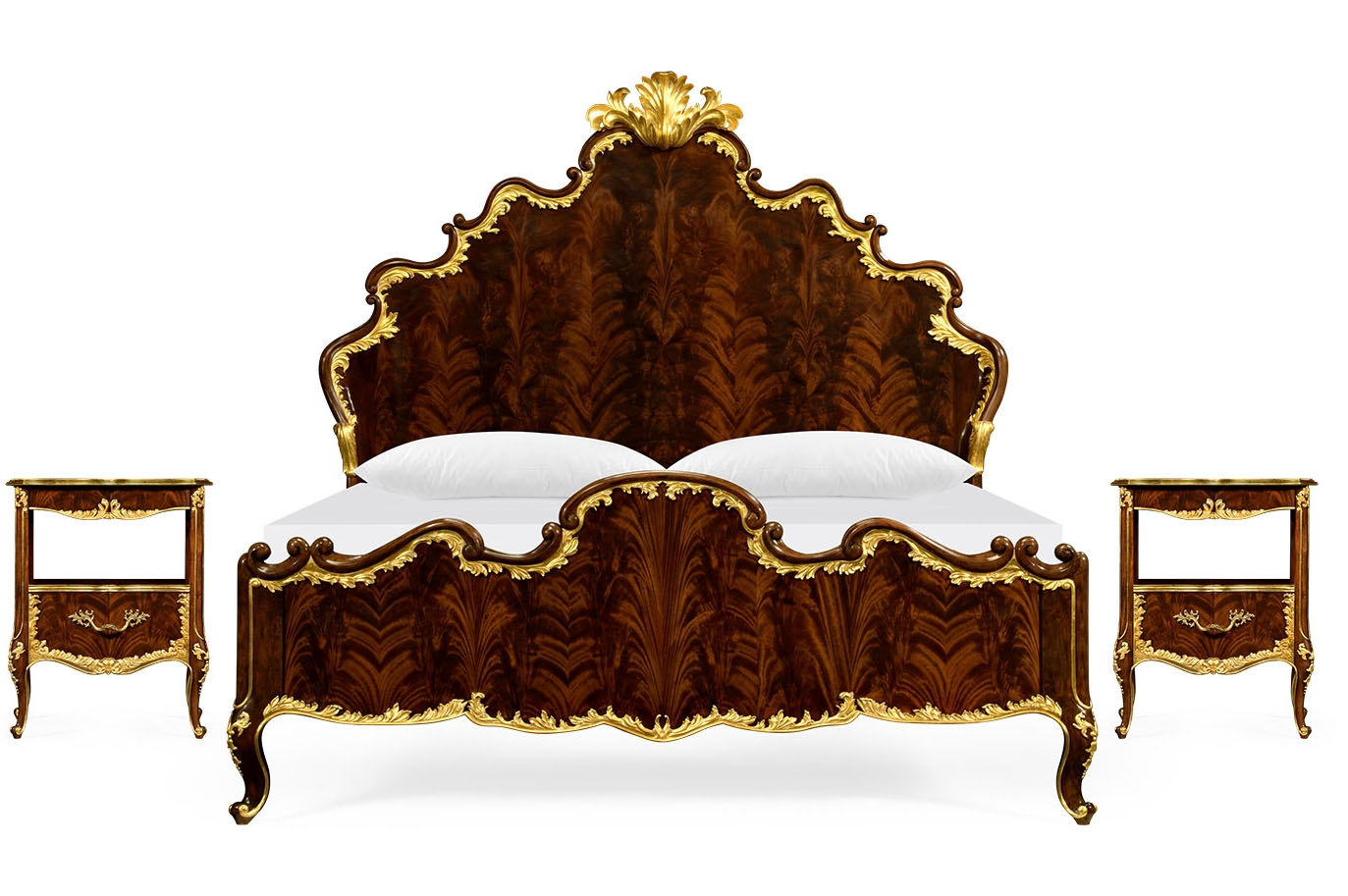 Us king bed with shaped headboard and footboard for King footboard