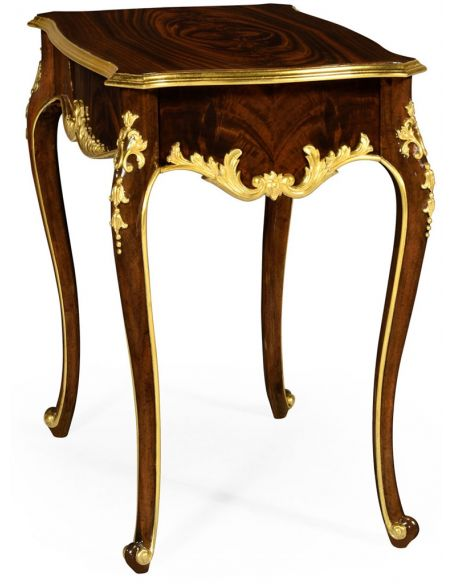 French Style Furniture End Table with Ornamental Detailing