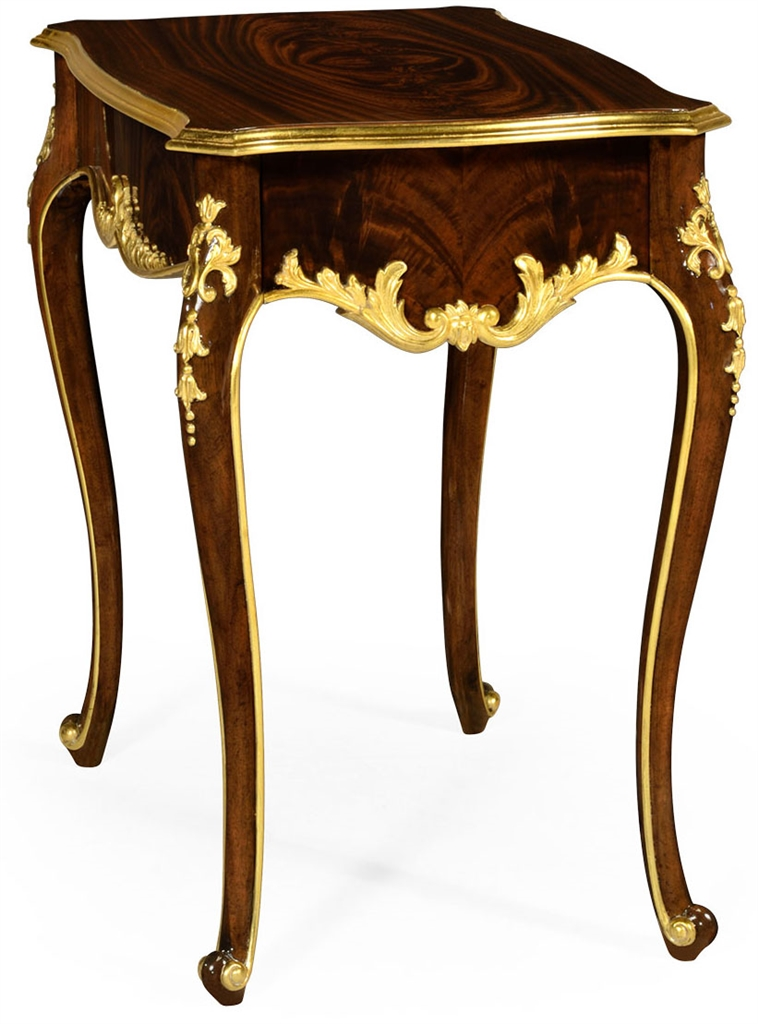 End table with ornamental detailing for French style furniture stores