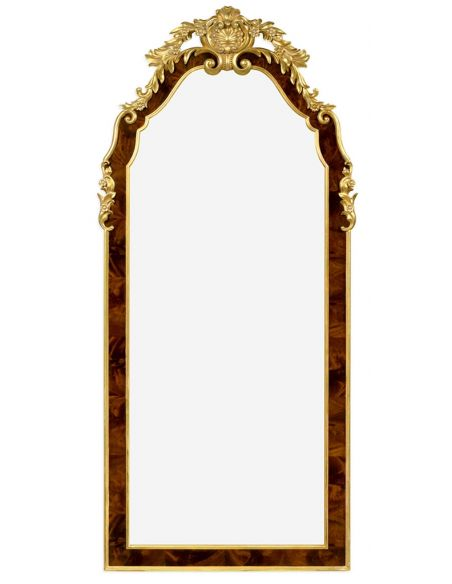 Decorative Accessories Standing Mirror with Curved Top