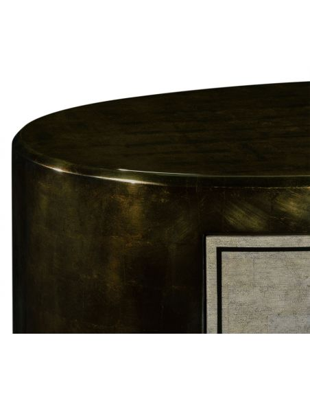 Modern Furniture Contemporary Oval Chest