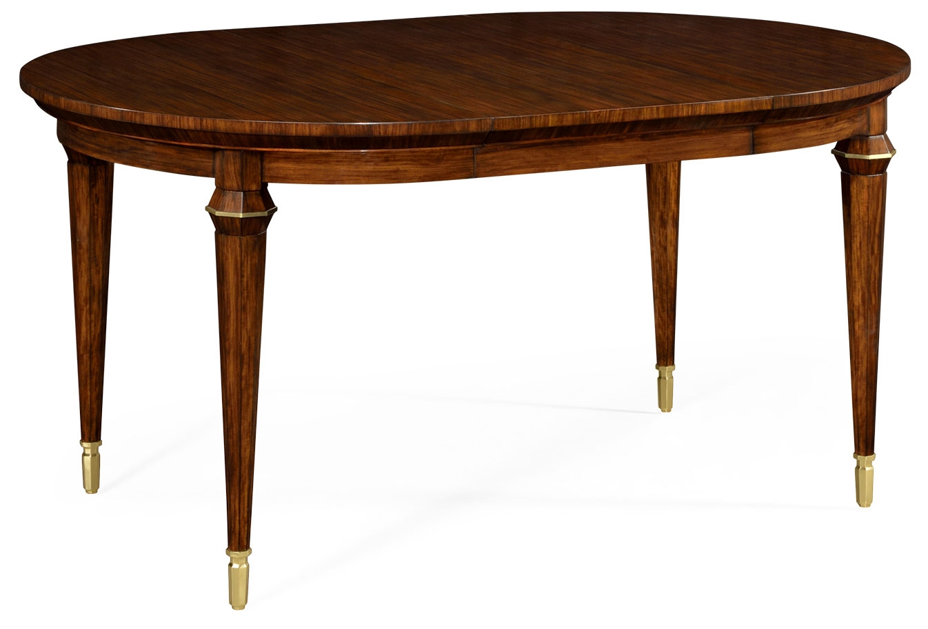 Round to oval extending dining table for Oval dining table