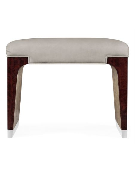 LUXURY BEDROOM FURNITURE Leather Upholstered Dressing Stool