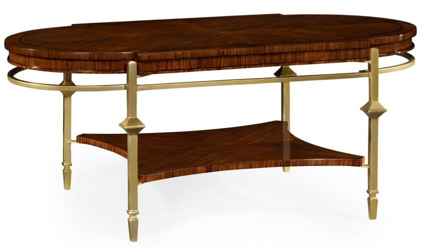 Coffee Tables Oval Brass Base Coffee Table