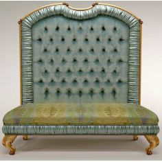 High Back Upholstered Bench