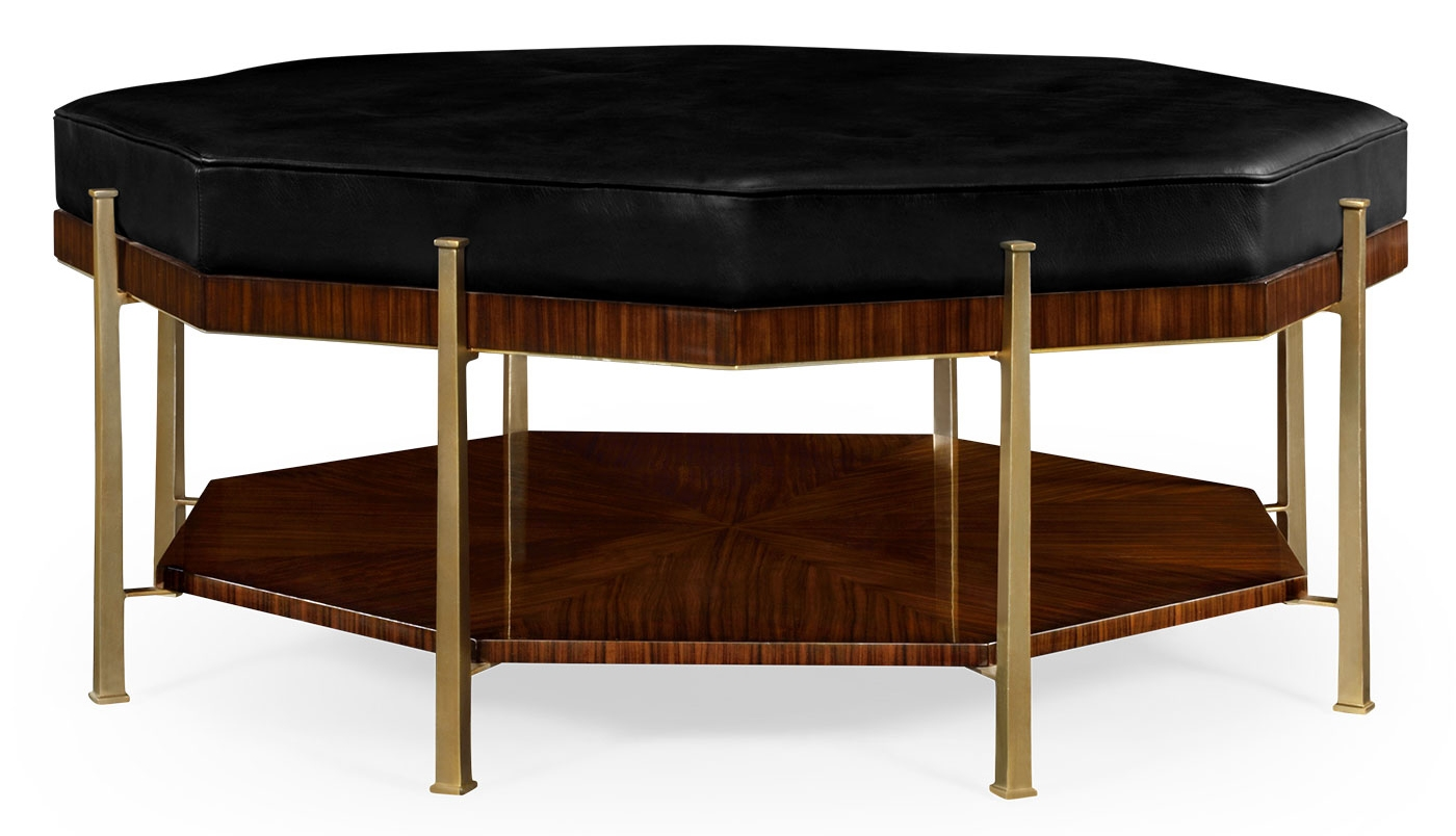 Upholstered Octagonal Coffee Table