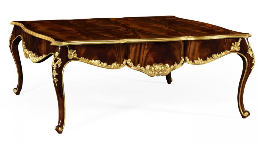 Coffee Tables Cocktail Table with Gilt Carved Detailing