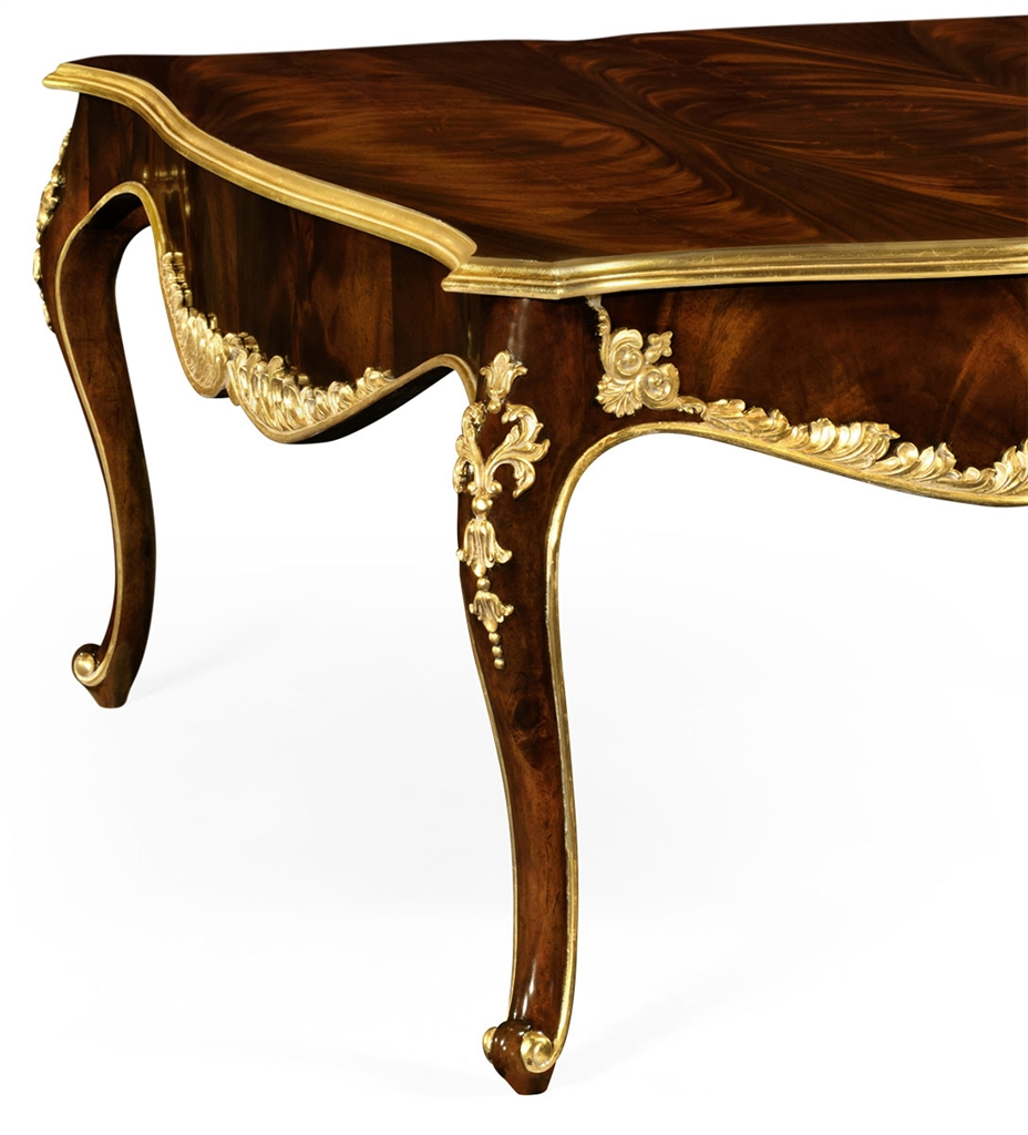 Cocktail Table With Gilt Carved Detailing