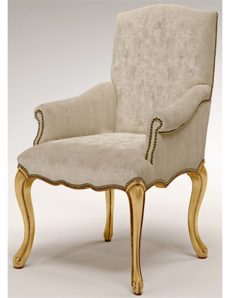 Dining Chairs Texture Upholstered Arm Chair