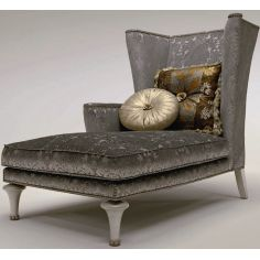 Winged Chaise Lounge Chair