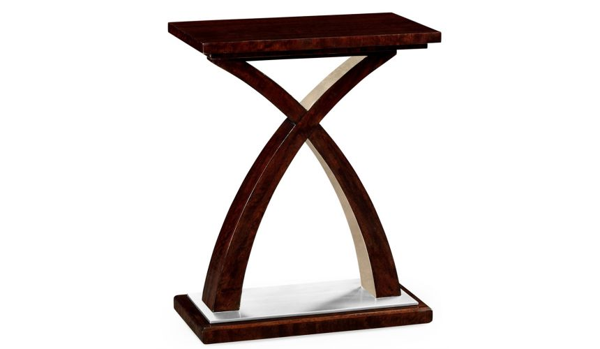 Modern Furniture Rectangular End Table with X-Styled Base