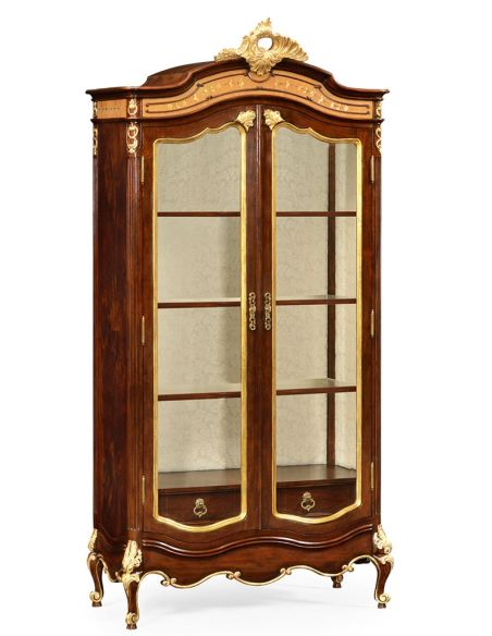 Breakfronts & China Cabinets French Style Crown Topped Armoire
