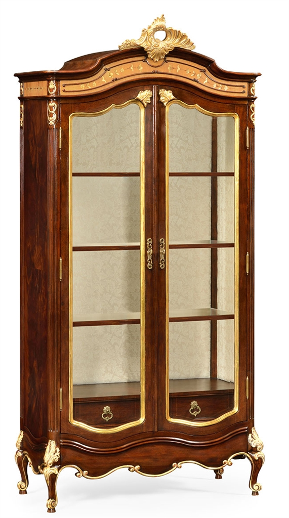 Breakfronts U0026 China Cabinets French Style Crown Topped Armoire
