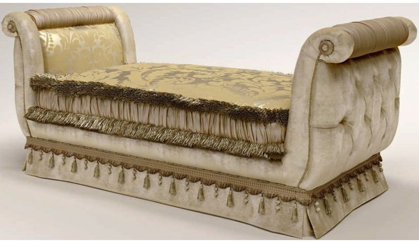Luxury Leather & Upholstered Furniture Contemporary Upholstered Bench