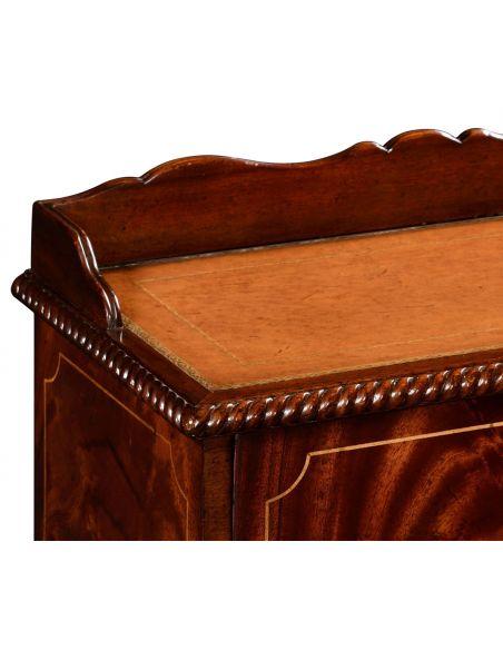 LUXURY BEDROOM FURNITURE Wooden Bed Steps in Regency Style