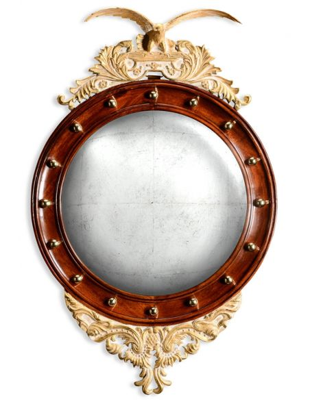 Decorative Accessories Regency Style Eagle Convex Mirror