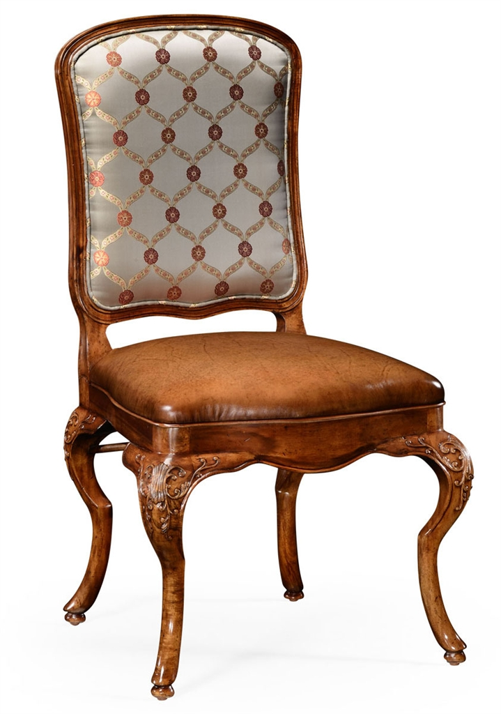 Dining Chairs Walnut Louis Xv Style Side Chair With Curved Back 71