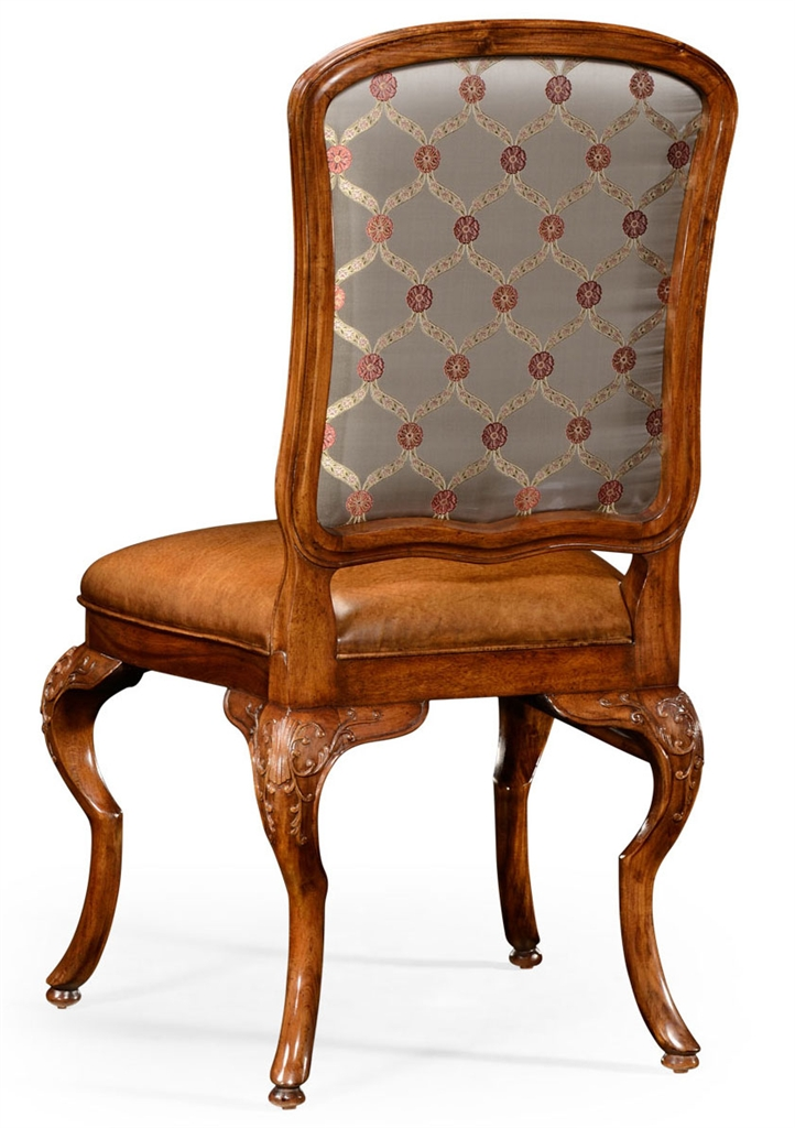 Walnut Louis XV Style Side Chair With Curved Back 71