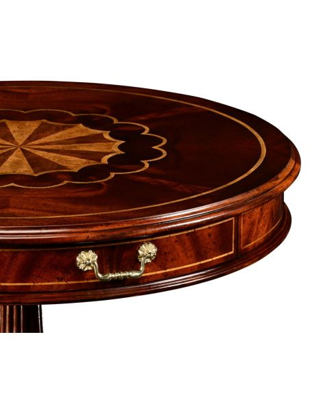 Round & Oval Side Tables Late Georgian Style Side Table-97