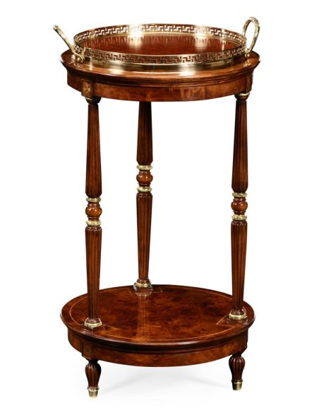 Decorative Accessories Round End Table with Tray