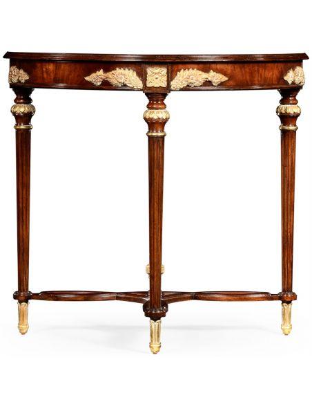 Napoleon III mahogany gilded console