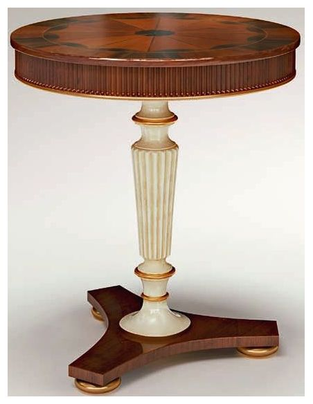 Square & Rectangular Side Tables Round Pedestal Side Table with Tripod Base