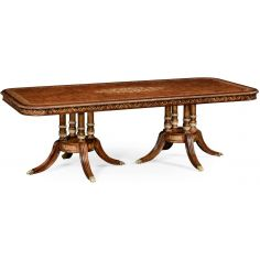 """Burr & mother of pearl 94 1/2"""" rectangular dining table"""