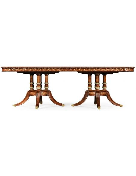 "Dining Tables Burr & mother of pearl 94 1/2\"" rectangular dining table"