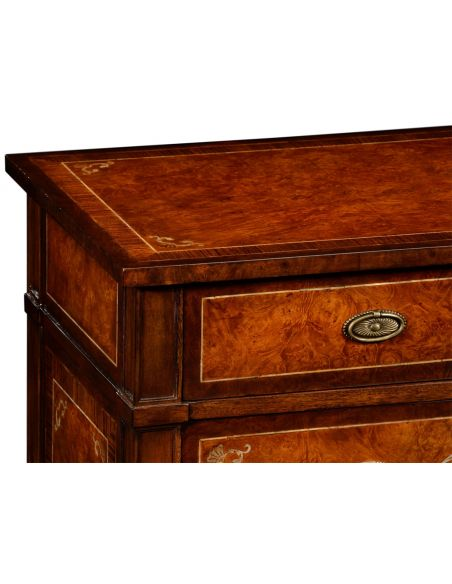 LUXURY BEDROOM FURNITURE 4 Drawer Chest with mother of pearl inlay
