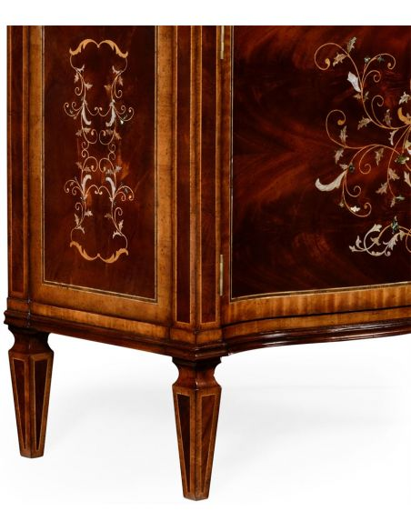 Mahogany side cabinet with beautiful inlay