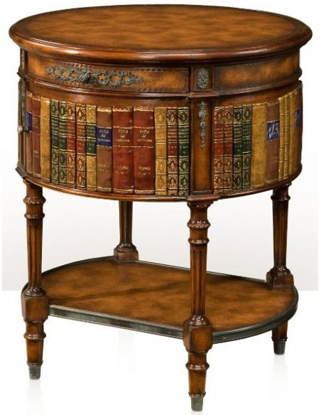 Round & Oval Side Tables Louis XVI library