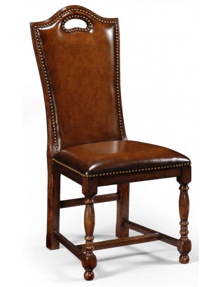Dining Chairs High End Dinning Room Furniture Tall Side Chair In Walnut