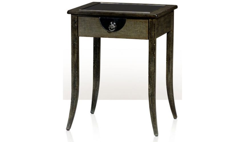 Square & Rectangular Side Tables An Aegean finish lamp table