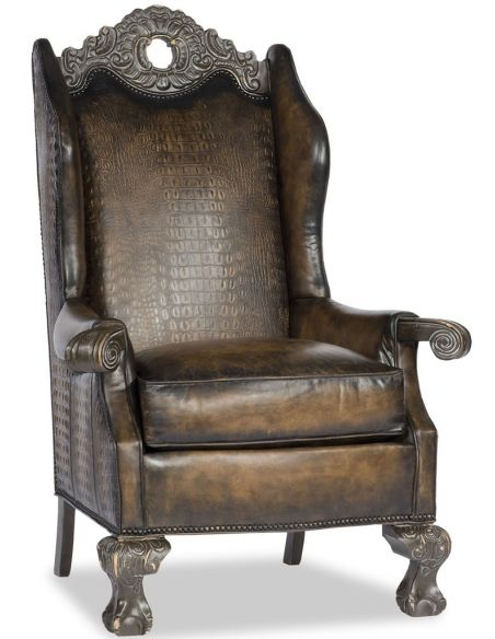 Home Bar Furniture Old English Leather Chair