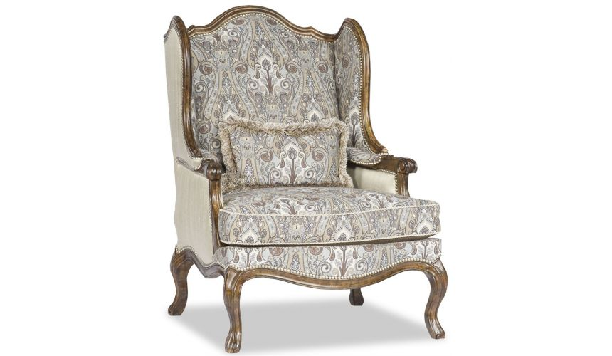 Luxury Leather & Upholstered Furniture Fancy Parlor Chair