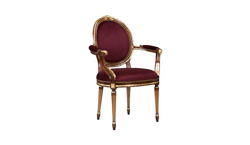 61-132 Solid walnut wood Dining Arm Chair
