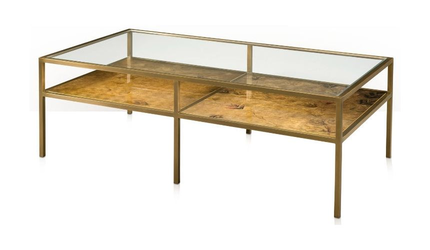 Rectangular and Square Coffee Tables Burnished Bright
