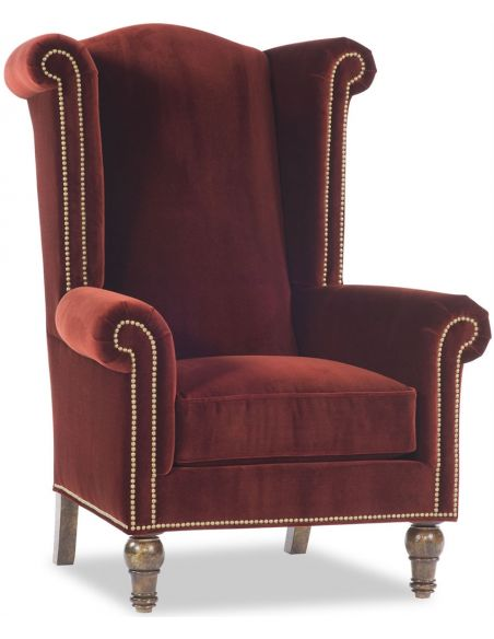 Luxury Leather & Upholstered Furniture Royal Red King Chair
