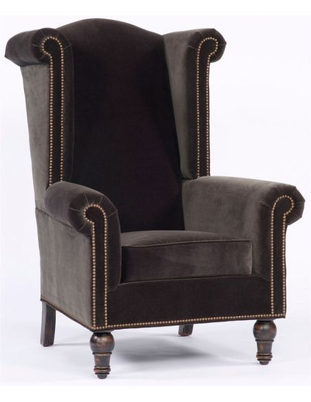Luxury Leather & Upholstered Furniture High Back Upholstered Chair