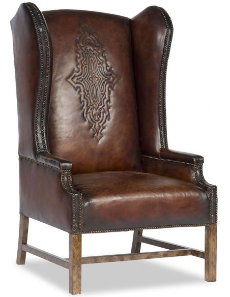Luxury Leather & Upholstered Furniture Western Leather Arm Chair