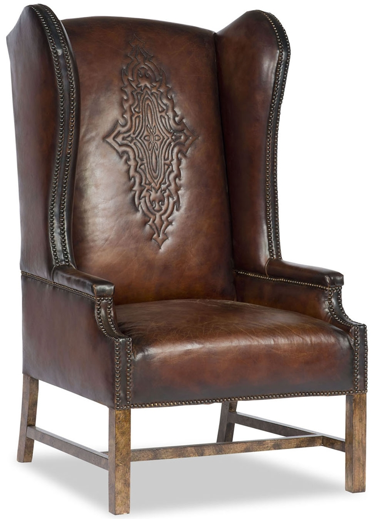 Western Leather Arm Chair
