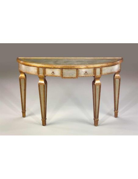Console & Sofa Tables Venetian Neo-Classical mahogany & silvered console table