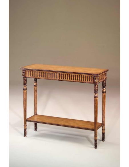 Console & Sofa Tables Honey pine finish console table