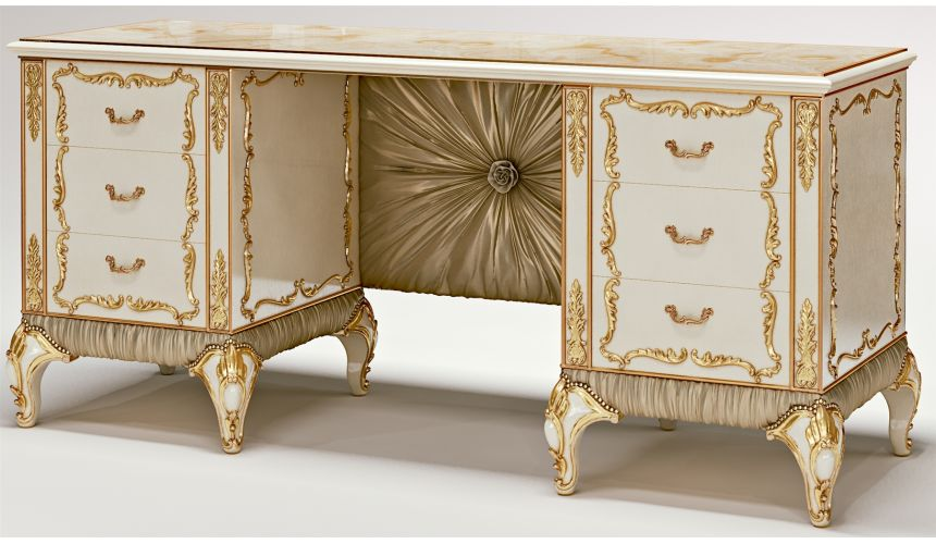 Executive Desks Gold Tone Accented Toilette