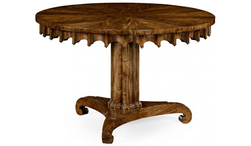 Dining Tables Stylish Mahogany round dining or foyer center table